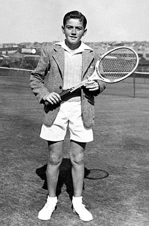 Ken Rosewall - Ken Rosewall, as a 12 year old at White City, Sydney (1946)