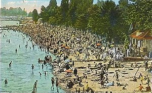 The Beaches - A 1934 postcard of Kew Beach