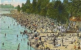 The Beaches - A 1934 postcard of Kew Beach