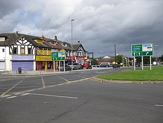 Killingbeck - Shops on York Road crossroads with Foundry Lane and Crossgates Road