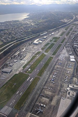 Boeing Field - Boeing Field aerial from the northwest