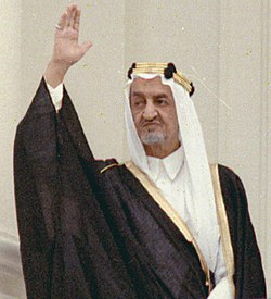 King Faisal of Saudi Arabia on on arrival ceremony welcoming 05-27-1971 (cropped).jpg