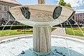 Klagenfurt Landhauspark Brunnenanlage mit Masken von Kiki Kogelnik 18072016 3143.jpg