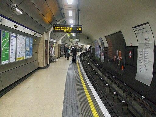 Knightsbridge station westbound look east