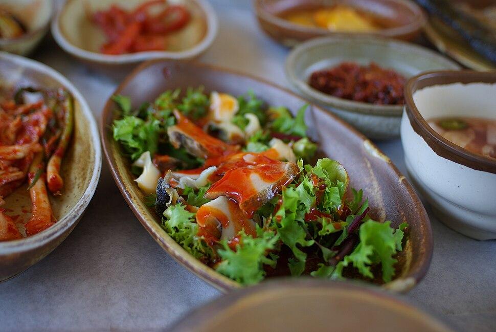 Korean cuisine-Jeonbok hoe-01