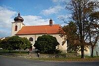 Kostel svatého Vavřince - boční pohled, Horní Štěpánov, okres Prostějov.jpg