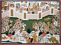 Krishna with his army within a walled city (6124593881).jpg