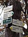 Kunratický les, U krále Václava IV., rozcestník.jpg