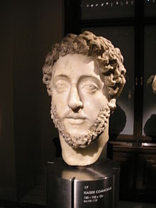 Bust of Commodus (Kunsthistorisches Museum, Vienna) According to Herodian[1] he was well proportioned and attractive, with naturally blonde and curly hair.
