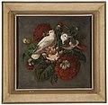 Kyyhkysiä ja kukkasia, Painting by Ferdinand von Wright.jpg