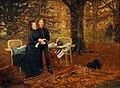 L'impératrice Eugénie et son fils - 1878 - James Tissot.jpg