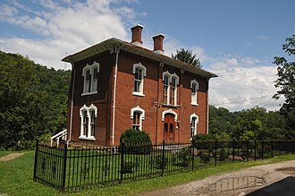 National Register of Historic Places listings in Doddridge County, West Virginia - Image: LATHROP RUSSELL CHARTER HOUSE; WEST UNION, DODDRIDGE COUNTY