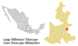 Large Millimeter Telescope - Location of the LMT.