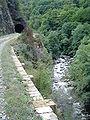 La Mimente à St.Julien-d'Arpaon et 1 des tunnels de l'ancien chemin de fer.JPG