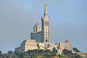 Notre-Dame de la Garde - Notre-Dame de la Garde, seen from the Vieux Port