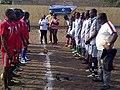 La présidente de la JCI Lomé Prestige peut avant le coup d'envoie (suite) tournoi de l'amitié.jpg