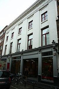 Laatclassicistisxh breedhuis XIX en pui van 1883 - Geldmundstraat 18 - Brugge - 29278.JPG