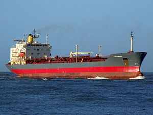 Lady Chiara p2 approaching Port of Rotterdam, Holland 29-Nov-2006.jpg