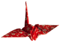 Laitche Origami Cranes - The red One - right.png