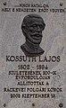 Lajos Kossuth plaque-relief (2002), Kossuth street, 2018 Ráckeve.jpg