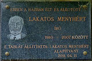 Menyhért Lakatos Hungarian writer