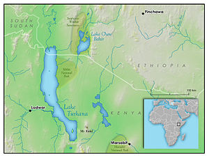 Lake Turkana - Image: Lake Turkana vicinity