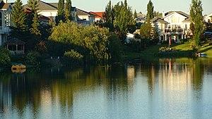 Eaux Claires, Edmonton - Image: Lake Water Rises 2 (4819335547)
