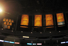 Five championship banners were added to the rafters of Staples Center  during Phil Jackson s tenure with the Lakers. a2c31c7b4