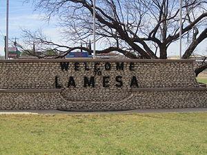 Lamesa, Texas - Lamesa welcome sign on U.S. Highway 87