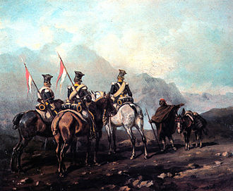 Battle of Los Yébenes - Lancers of the Vistula Legion on patrol in Spain