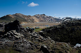 Landmannalaugar camp site 20100721.jpg