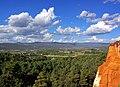 Landscape of Roussillon. Vue vers les monts du Vaucluse..jpg