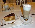 Landtmann's feiner torte and a latte.jpg