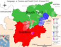 Language distribution in South Tyrol and Trentino (2013).png