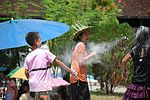 Lao New Year, flour throwing.jpg