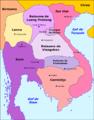 Laos - Division territòriala vèrs 1750.png
