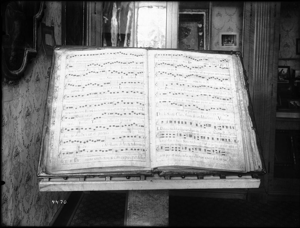 file large music book open to  u0026quot a vesper  hymn  for the