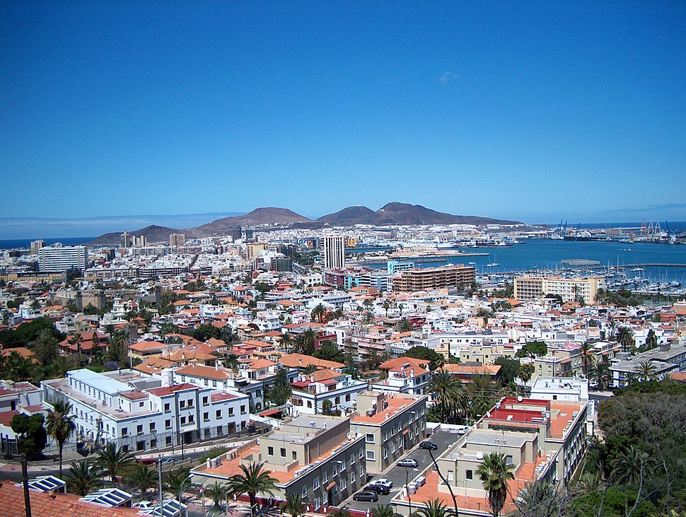 Las Palmas de Gran Canaria-Panoramic view over the city