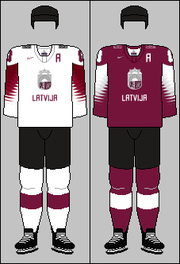 Latvia national ice hockey team jerseys 2018 IHWC.png