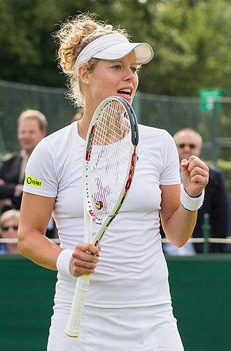 Laura Siegemund - Siegemund at the Wimbledon qualifying in 2015
