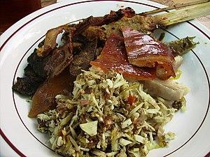 Lawar (food) - Image: Lawar babi guling