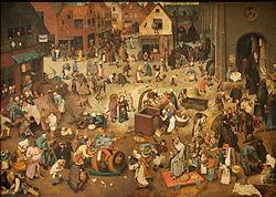Pieter Brueghel l'Ancien: Le Combat de Carnaval et Carême