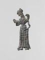 Lead figure of a winged goddess, perhaps Artemis Orthia MET DP120853.jpg