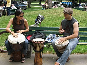 Observational learning - Learning to play Djembe.