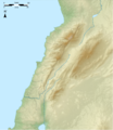 Lebanon physical blank map.png