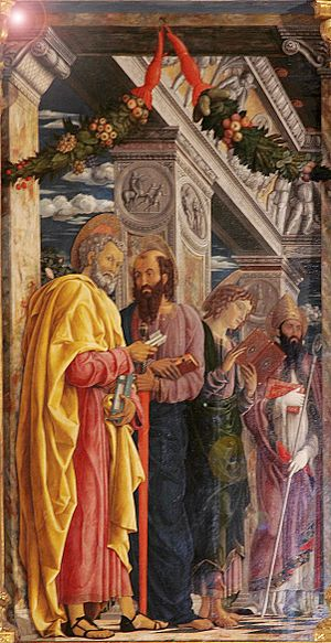 Zeno of Verona - San Zeno Altarpiece. Zeno is on the far right.