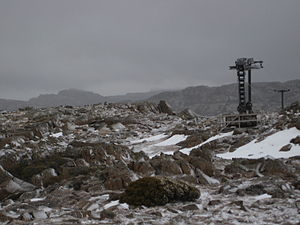 Ben Lomond (Tasmania) - Legges Tor from the summit looking towards the Ben Lomond Ski Resort.