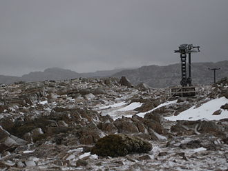 Ben Lomond (Tasmania) - Legges Tor from the summit looking towards the Ben Lomond Ski Resort.