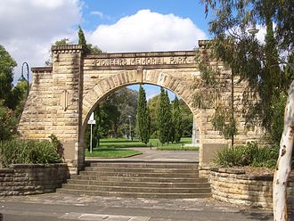 Leichhardt, New South Wales - Pioneers Memorial Park entrance