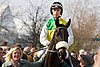 Leighton Aspell riding Many Clouds
